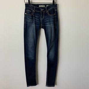 BKE Denim Buckle Sabrina Jeans Sz 25R Blue 063